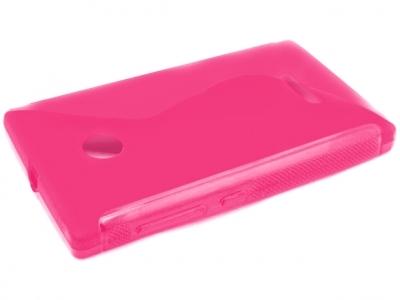 СИЛИКОНОВ ПРОТЕКТОР ЗА MICROSOFT LUMIA 435 / Dual SIM RM-1070 - Pink