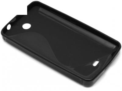 СИЛИКОНОВ ПРОТЕКТОР ЗА MICROSOFT LUMIA 430 / Dual SIM RM-1066 RM-1067 RM-1099 - Black
