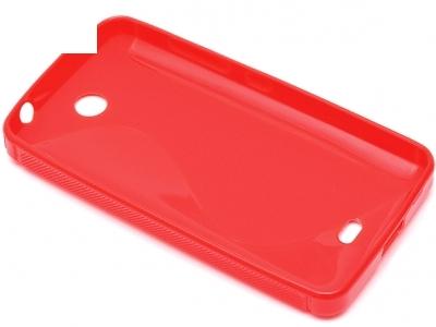 СИЛИКОНОВ ПРОТЕКТОР ЗА MICROSOFT LUMIA 430 / Dual SIM RM-1066 RM-1067 RM-1099 - Red