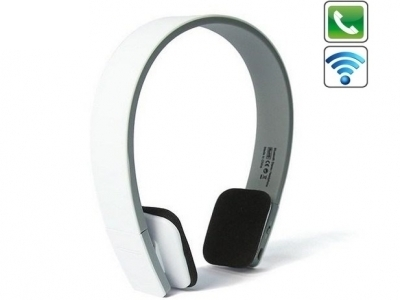 Слушалки Bluetooth с микрофон BQ618 , Бял