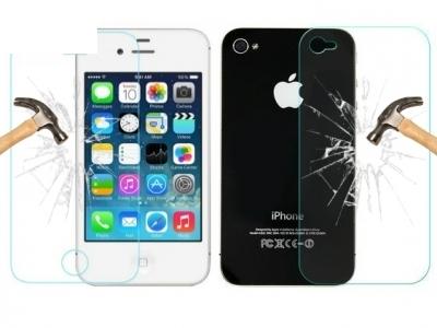 ПРЕДЕН И ЗАДЕН СТЪКЛЕНИ УДАРОУСТОЙЧИВИ СКРИЙН ПРОТЕКТОРИ ЗА iPhone 4G / 4GS