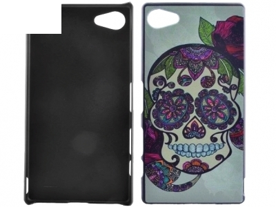 PVC ГРЪБ ЗА SONY XPERIA Z5 COMPACT E5823 Flower Decorated Skull