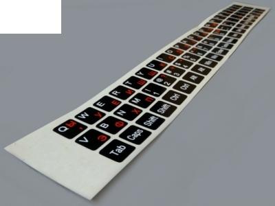Самозалепващи стикери за клавиатура- кирилица, латиници, цифри, Черен