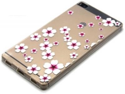 УЛТРА ТЪНЪК ПРОЗРАЧЕН СИЛИКОНОВ ПРОТЕКТОР ЗА HUAWEI P8 - Starfish Flower