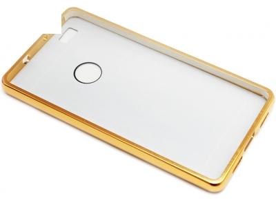 ГЛАНЦИРАН PVC ПРОТЕКТОР ЗА HUAWEI P8 - Gold
