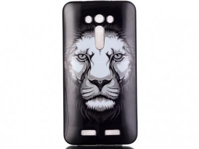 СИЛИКОНОВ ПРОТЕКТОР ЗА ASUS ZENFONE 2 LASER ZE550KL ZE551KL - Lion Pattern