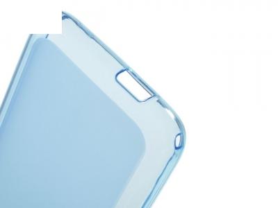 Ултра тънък силиконов протектор за Alcatel OneTouch Pixi 4 (3.5) - Син