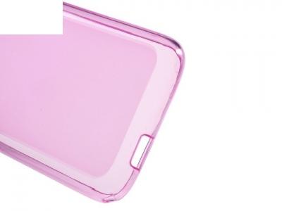 Ултра тънък силиконов протектор за Alcatel OneTouch Pixi 4 (3.5) - Розов