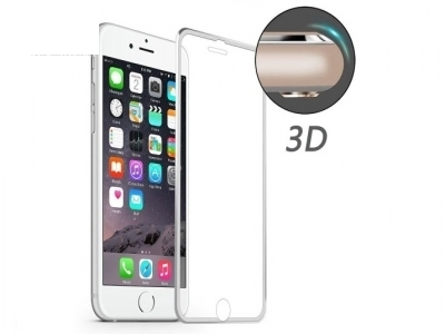 ИЗВИТ СТЪКЛЕН УДАРОУСТОЙЧИВ СКРИЙН ПРОТЕКТОР CURVED ЗА iPhone 7 Plus / 8 Plus HAT PRINCE 0.2mm - Silver