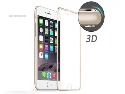 ИЗВИТ СТЪКЛЕН УДАРОУСТОЙЧИВ СКРИЙН ПРОТЕКТОР CURVED ЗА iPhone 7 Plus / 8 Plus HAT PRINCE 0.2mm - Gold