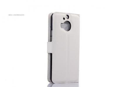 КОЖЕН КАЛЪФ ТЕФТЕР СТРАНИЧНО ОТВАРЯНЕ ЗА HTC One M9 Plus - White