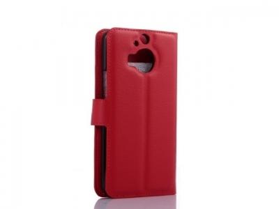 КОЖЕН КАЛЪФ ТЕФТЕР СТРАНИЧНО ОТВАРЯНЕ ЗА HTC One M9 Plus - Red