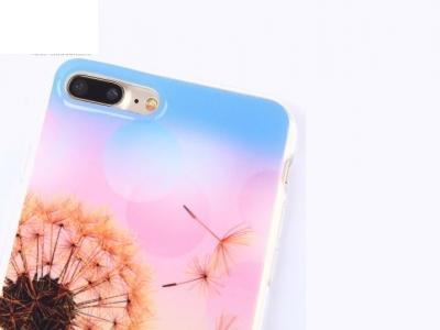 Ултра тънък силиконов протектор за iPhone 7 Plus /  8 Plus - Текстура - Глухарче