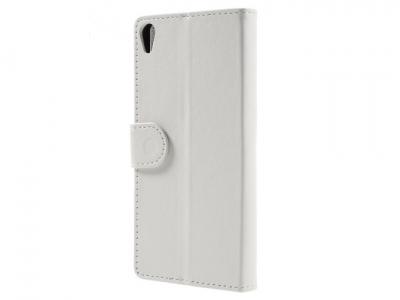 Калъф-тефтер, трансформиращ се в стойка за Sony Xperia E5 - Бял