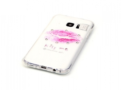 Ултра тънък силиконов протектор за Samsung Galaxy S7 2016 G930 - Прозрачен -Текстура - Целувка