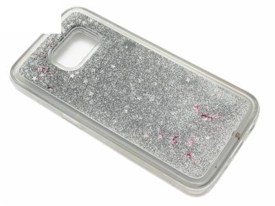 Силиконов Гръб за Samsung Galaxy S7 2016 G930 Liquid Stars - Сребро