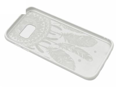 Силиконов Гръб - Samsung Galaxy S7 Edge 2016 G935, (Dream Catcher)  Бял