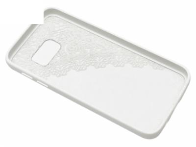 Силиконов Гръб за Samsung Galaxy S7 2016 G930 -  Дантела - Бяла