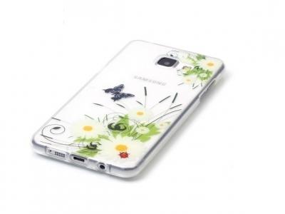 Силиконов калъф за Samsung Galaxy A3 2016 SM-A310F , Цветя и Пеперуди