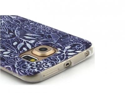 Силиконов Калъф за  Samsung Galaxy S6 Edge 2015 G925 - Unique Flowers