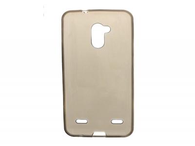 Ултра тънък силиконов гръб за ZTE Blade V7 lite - прозрачен черен
