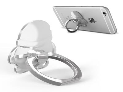 OATSBASF Plated Penguin Rotating Metal Finger Grip Stand Holder - Silver