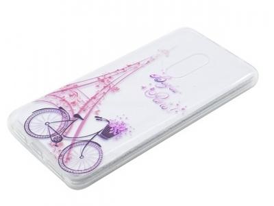 Силиконов протектор Lenovo K6 Note - Eiffel Tower and Bicycle