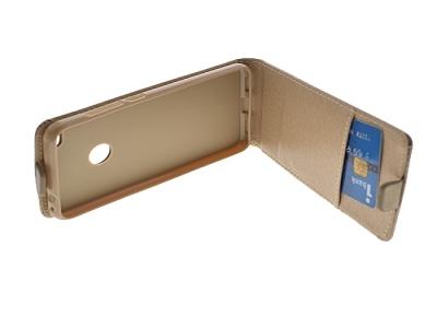 Калъф Slim Flexy за Huawei P8 Lite 2017, Златист