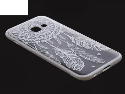 Пластмасов гръб със силиконова лайсна за Samsung Galaxy А3 2017 А320 Бял