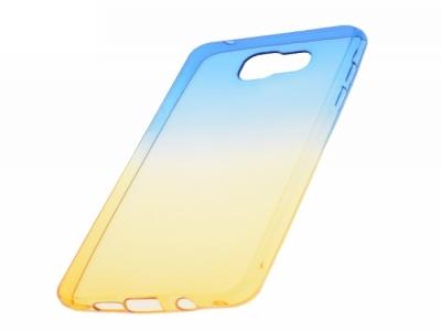 Силиконов гръб OMBRE за Samsung Galaxy A5 2016 A510, Син / Златист