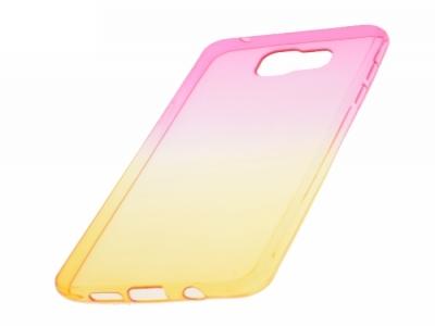Силиконов гръб OMBRE за Samsung Galaxy A5 2016 A510, Розов/ Златист