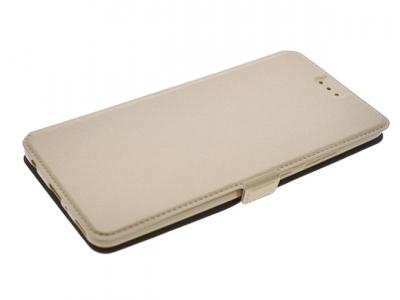 Калъф Тефтер странично отваряне за Huawei P10 Plus Златист