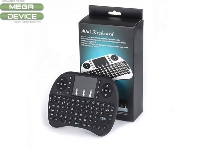 Мини безжична клавиатура 2.4 GHz с тъчпад Wireless Air Wireless Keyboard  Full Qwerty Keyboard For PC Android TV Box And Smart TV