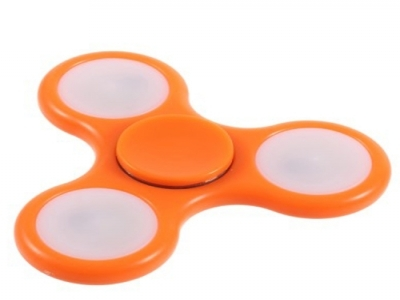 LED Hand Spinner Fidget Toy Triangle Fidget Spinner for Stress Relief ADHD - Orange