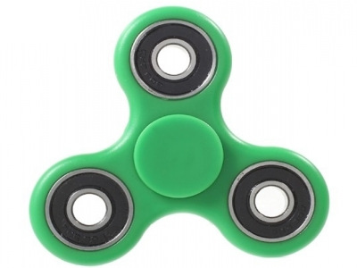 EDC Toy Tri Fidget Hand Finger Bearing Spinner for ADHD Autism - Green