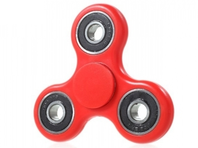 Tri Fidget Hand Bearing Spinner EDC Toy for ADHD Autism - Red