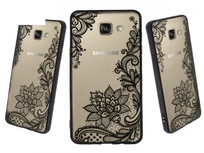 Пластмасов гръб със силиконова лайсна за Samsung Galaxy A5 2016 A510, Черен