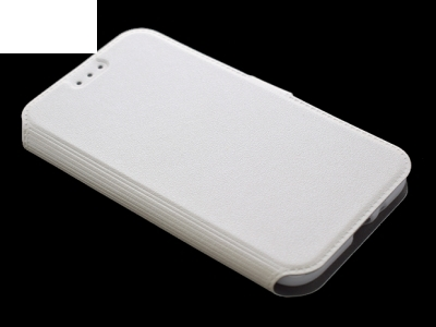 Тефтер странично отваряне за  Samsung Galaxy J1 2016, Бял