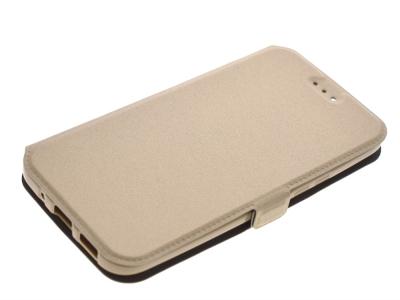 Тефтер странично отваряне за HTC M10 Златист