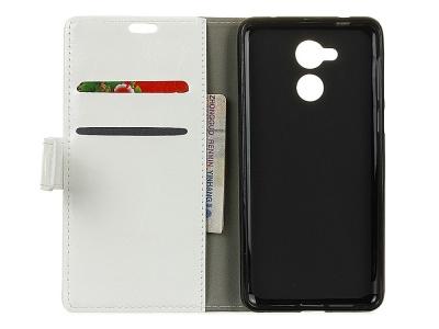 Калъф тефтер за Huawei Nova Smart/Honor 6c/Enjoy 6s Бял