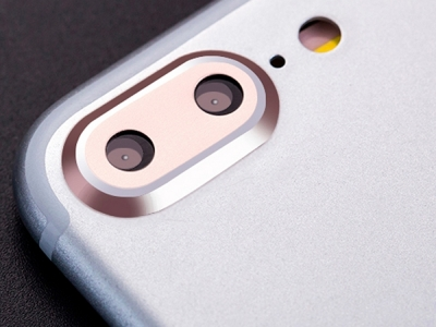 Метален протектор за Apple iPhone 7 Plus , Розово/Златист