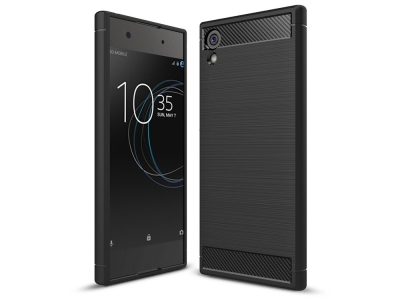 Силиконов Калъф Carbon Fibre Brushed - Sony Xperia XA1 - Black