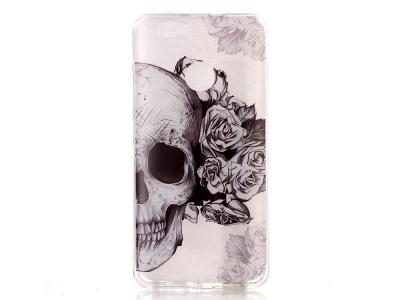 Силиконов Калъф за Huawei nova - Skull and Flowers