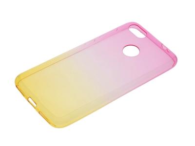Силиконов гръб OMBRE за Huawei P9 Lite MINI / Enjoy 7 , Розов/Златист