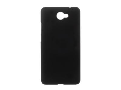 Пластмасов матиран гръб за Huawei Y7 2017, Черен