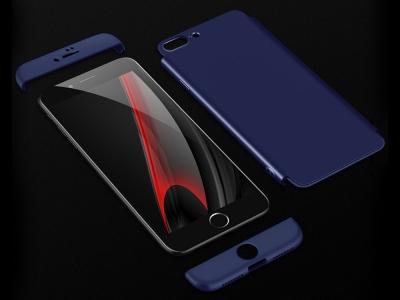 Ултра Тънък Пластмасов Протектор FULL iPhone 7 Plus / 8 Plus , Тъмно син