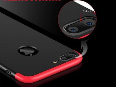 Ултра Тънък Пластмасов Протектор FULL iPhone 7 Plus / 8 Plus , Червен/ Черен