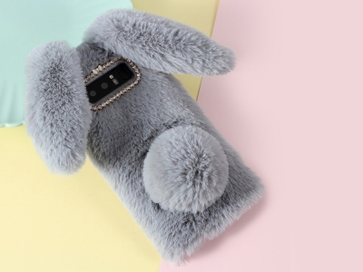 Силиконов гръб  Пухкаво зайче за Samsung Galaxy Note 8 2017 N950, Сив