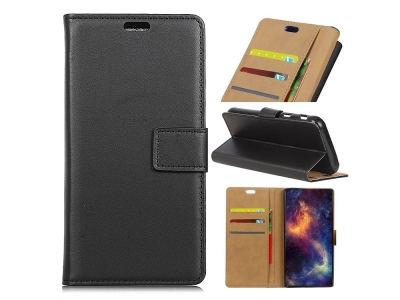Калъф Тефтер Leather Stand Case Asus Zenfone 4 Max (ZC520KL) - Black