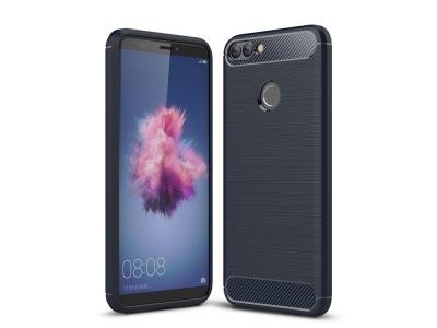 Силиконов гръб Carbon за Huawei P Smart / Enjoy 7S , Тъмно син